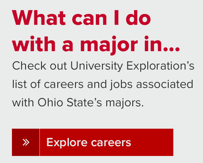 Information about careers by major.